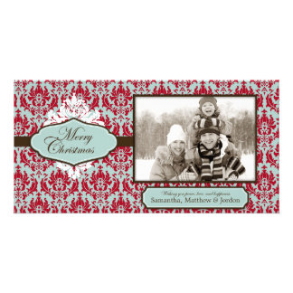 Christmas Brocade Retro Photo Card