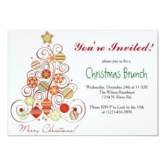 Christmas Brunch Card