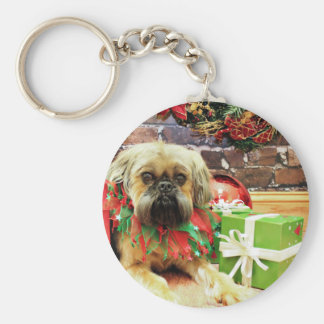 Christmas - Brussels Griffon - Oliver Key Ring