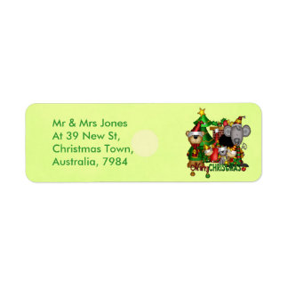 Christmas Buddies Return Address Label
