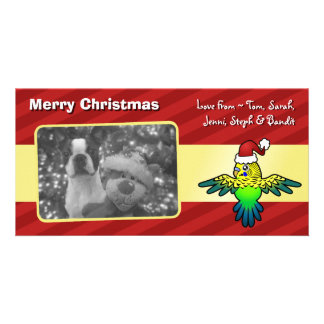 Christmas Budgie Picture Card