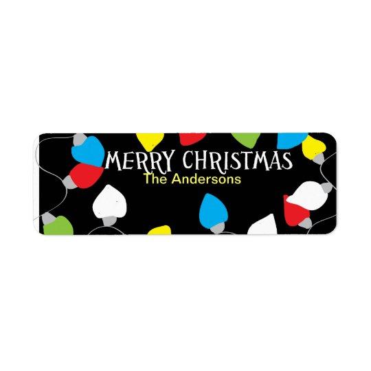Christmas bulbs - address stickers