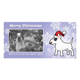 Christmas Bull Terrier Custom Photo Card