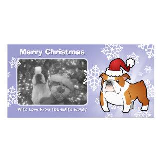 Christmas Bulldog Personalised Photo Card