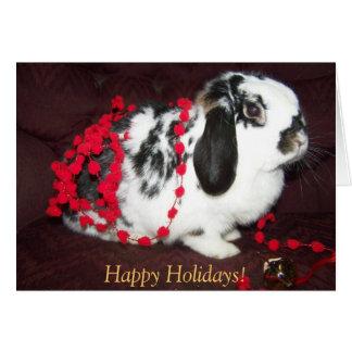 Christmas Bunny, Happy Holidays! Card