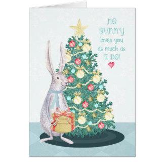 Christmas Bunny Rabbit for Kids Card