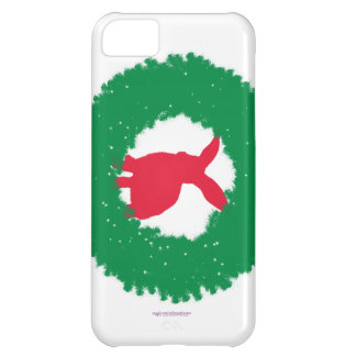 Christmas Bunny Rabbit in a Wreath iPhone 5C Case