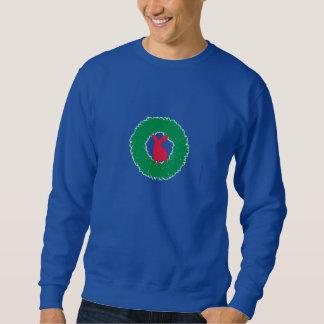 Christmas Bunny Rabbit in a Wreath Sweatshirt