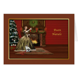 Christmas, Buon Natale, Italian, Old Fashioned Greeting Card