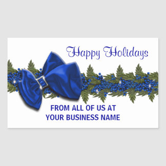 Christmas business greeting seals PERSONALIZE