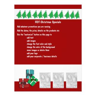 Christmas business promotional marketing leaflets 21.5 cm x 28 cm flyer