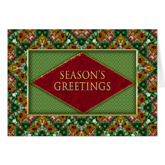 CHRISTMAS - BUSINESS - SEASON'S GREETINGS - JEWELS CARD