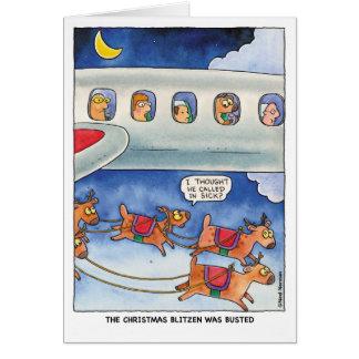 Christmas:  Busted Reindeer Card