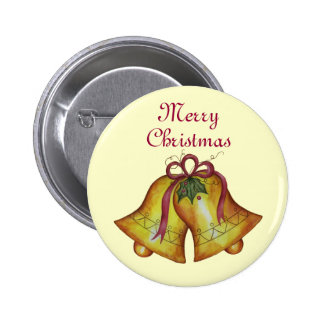 Christmas Button Merry Christmas Bells