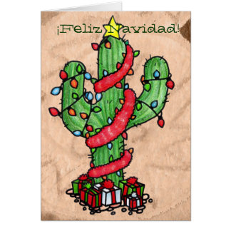 Christmas Cactus Greeting Card