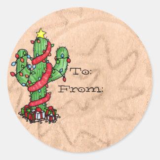 Christmas Cactus Labels