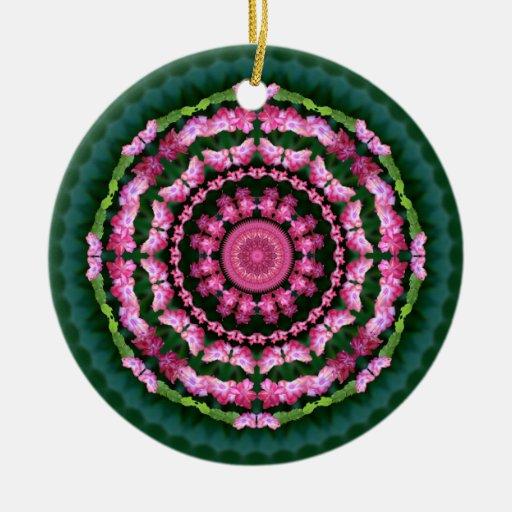Christmas Cactus Mandala Ornament