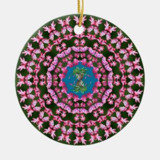 Christmas Cactus Mandalas Ornament
