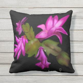 Christmas Cactus Outdoor Cushion