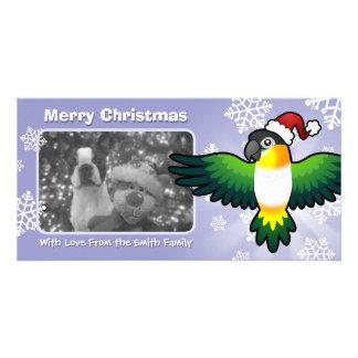 Christmas Caique / Lovebird / Pionus / Parrot Customized Photo Card
