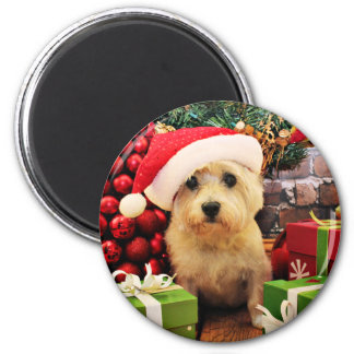Christmas - Cairn Terrier - Roxy 6 Cm Round Magnet