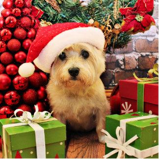 Christmas - Cairn Terrier - Roxy Standing Photo Sculpture