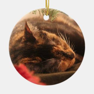 Christmas Calico Cat Ornament