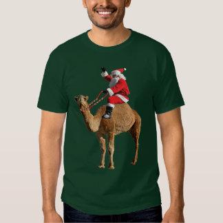 Christmas Camel and Santa T-shirt