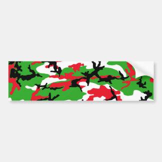 Christmas Camouflage Bumper Sticker