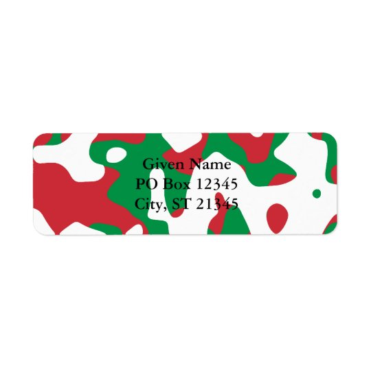 Christmas Camouflage Return Address Label