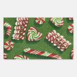 christmas candies rectangular sticker