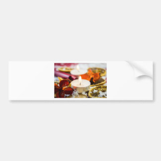 Christmas Candle Bumper Sticker