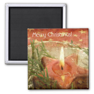 Christmas Candle Magnet