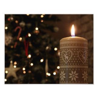 Christmas Candle Print Art Photo