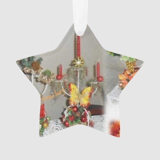 christmas candle star  ornament