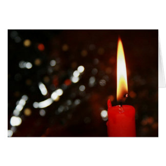 Christmas Candlelight Greeting Card w/ Envelope