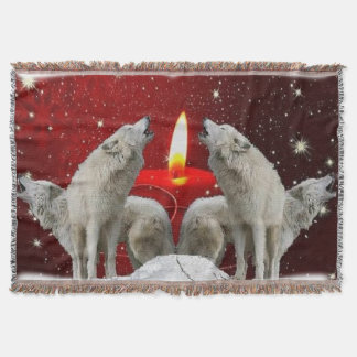 Christmas Candlelight Singers Throw Blanket