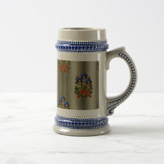 Christmas Candles and Wreath Beer Stein