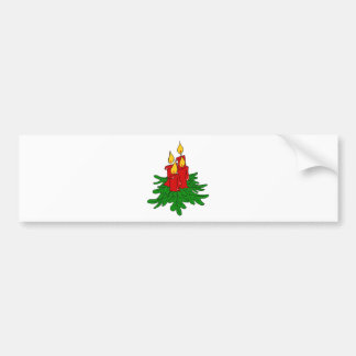 christmas candles bumper sticker