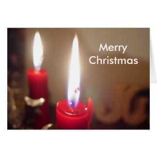 Christmas Candles Greeting Card