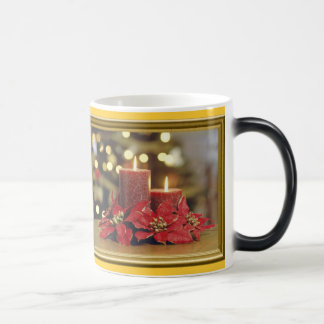 Christmas candles magic mug