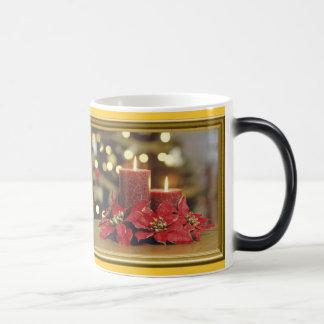 Christmas candles morphing mug