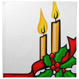 Christmas Candles Napkin