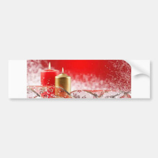 Christmas Candles & Ribbon Bumper Stickers