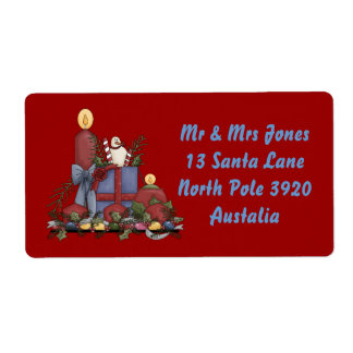 Christmas Candles Shipping Label