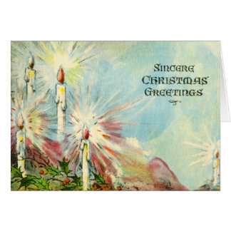 Christmas Candles Sincere Holiday Greetings Card