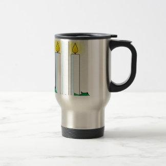 christmas candles travel mug