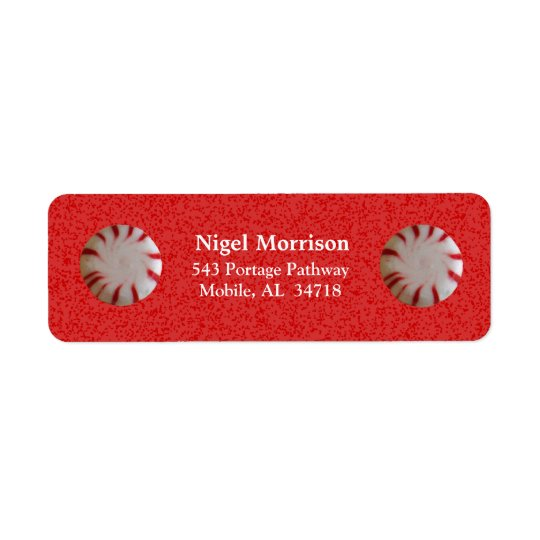Christmas Candy Address Labels