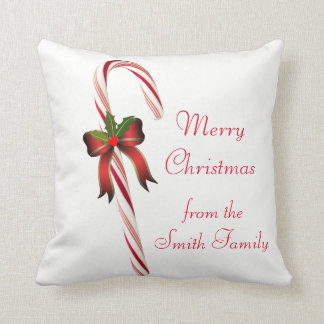 Christmas Candy Cane Decorative Pillow