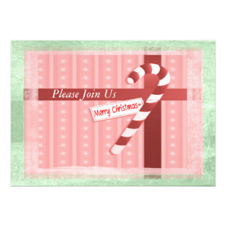 Christmas Candy Cane Gift Set Invitation